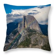 Somewhere Over Half Dome Throw Pillow