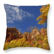 Somewhere Over The Mountains Throw Pillow