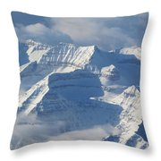 Somewhere Over The Rockies Throw Pillow by Angie Vogel
