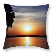 Somewhere Sunset  Throw Pillow