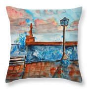 Somplace In Greece Throw Pillow