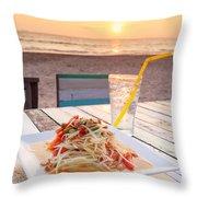 Somtum Thai Salad Throw Pillow