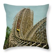 Son Of Beast Roller Coaster Throw Pillow
