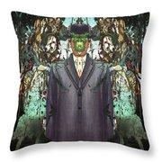 son-of-man Botticelli 2 Throw Pillow