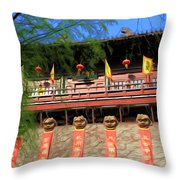 Song Dynasty Town In Dali 2 Throw Pillow