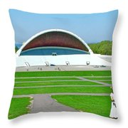Song Festival Amphitheatre In Tallinn-estonia Throw Pillow