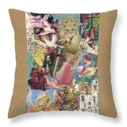 Song Of Angels Throw Pillow