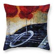 Song Of Seasons II Throw Pillow by Vickie Warner