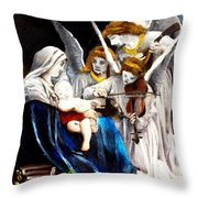 Song Of The Angels By Bouguereau Throw Pillow