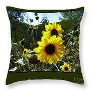 Song Of The Sunflower Throw Pillow