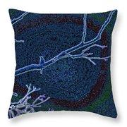 Songbird Blue Throw Pillow
