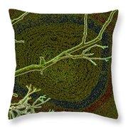 Songbird Green Throw Pillow