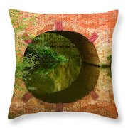 Sonning Bridge On The River Thames Throw Pillow