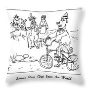 Sonny Goes Out Into The World Throw Pillow