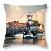 Sono Seaport Seafood Throw Pillow