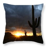 Sonoran Desert Rays Of Hope Throw Pillow by Bob Christopher