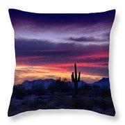 Sonoran Desert Skies  Throw Pillow