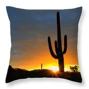 Sonoran Desert Sunrise 4 Throw Pillow