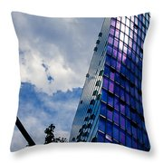 Sony Center In Downtown Berlin Throw Pillow