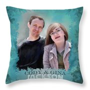 Soon To Be Mr And Mrs Jackson Throw Pillow