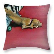 Sooo Sleepy Throw Pillow