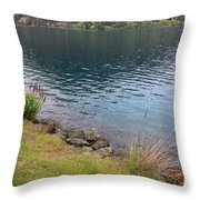 Soothing Lake Crescent Throw Pillow