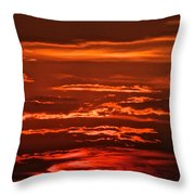 Soothing Saturday Sunset Throw Pillow