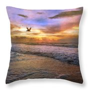Soothing Sunrise Throw Pillow by Betsy Knapp