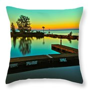Soothing Sunset Throw Pillow