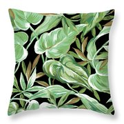 Soothing Tropics Throw Pillow