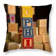 Sophia - Alphabet Blocks Throw Pillow