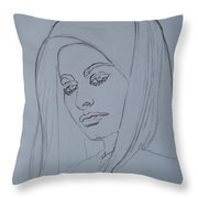 Sophia Loren In Headdress Throw Pillow