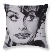 Sophia Loren Telephones Throw Pillow