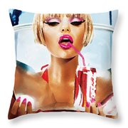 Sophie Monk Painting Throw Pillow