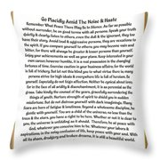 Sophistcated Medieval Style Desiderata Throw Pillow