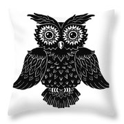 Sophisticated Owls 1 Of 4 Throw Pillow