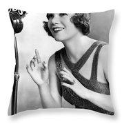 Soprano Vivienne Segal On Cbs Throw Pillow