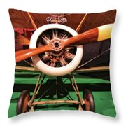 Sopwith Camel Airplane Throw Pillow