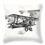 Sopwith F.1 Camel 1917 Throw Pillow