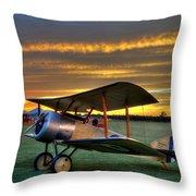 Sopwith Sunset Throw Pillow