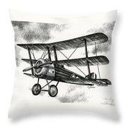 Sopwith Triplane 1917 Throw Pillow