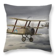 Sopwith Triplane Throw Pillow by Pat Speirs