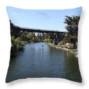 Soquel Creek Capitola Throw Pillow