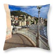 Sori - Sea And Promenade Throw Pillow