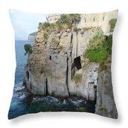 Sorrento - Cliffside Throw Pillow