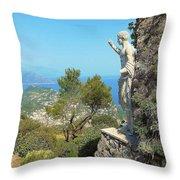 Sorrento Peninsula From Mt Solaro Capri  Throw Pillow