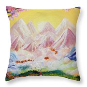 Sorrows All Disappear Throw Pillow