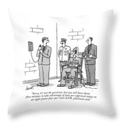Sorry, It's Not The Governor, But You Still Throw Pillow