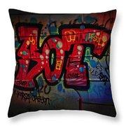 Sot Graffiti - Lisbon Throw Pillow