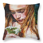 Soul Blossoms Throw Pillow